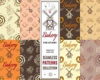 Geplaatste bakkerijpatronen Royalty-vrije Stock Afbeeldingen