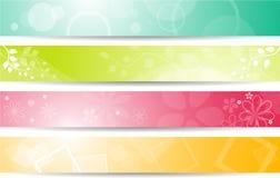 Geplaatste banners Stock Foto's