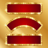 Geplaatste banners Royalty-vrije Stock Fotografie