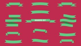 Geplaatste banners Stock Foto