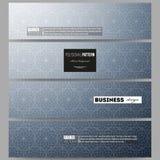 Geplaatste banners Abstracte bloemen bedrijfsachtergrond, moderne modieuze vectortextuur Royalty-vrije Stock Fotografie
