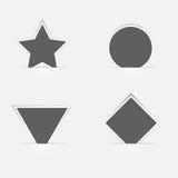Geplaatste banners Ontwerpelementen voor Web en mobiele toepassingen Ve Royalty-vrije Stock Fotografie