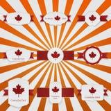 Geplaatste Banners van de de Dag de nationale groet van Canada stock illustratie