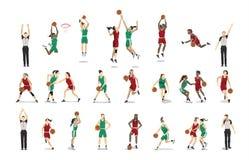 Geplaatste basketbalspelers royalty-vrije illustratie