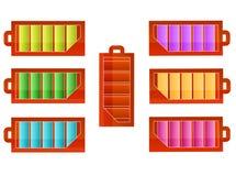 geplaatste batterijpictogrammen Royalty-vrije Stock Afbeelding