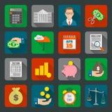 Geplaatste belastingspictogrammen Royalty-vrije Stock Afbeelding