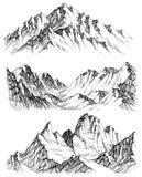 Geplaatste bergen royalty-vrije illustratie