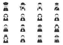 Geplaatste beroepspictogrammen Royalty-vrije Stock Foto's