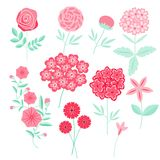 Geplaatste bloemen Stock Fotografie