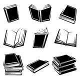 Geplaatste boeken. Vector royalty-vrije illustratie