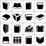 Geplaatste boekpictogrammen Vector Illustratie