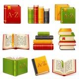 Geplaatste boekpictogrammen Royalty-vrije Stock Afbeelding
