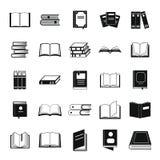 Geplaatste boekpictogrammen, eenvoudige stijl Royalty-vrije Stock Foto's