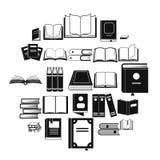 Geplaatste boekpictogrammen, eenvoudige stijl Stock Afbeeldingen