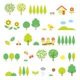Geplaatste bomen royalty-vrije illustratie