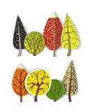 Geplaatste bomen Stock Foto's