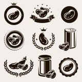 Geplaatste bonen. Vector Royalty-vrije Stock Afbeeldingen