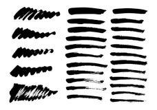 Geplaatste borstellijnen Vector illustratie vector illustratie