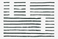 Geplaatste borstellijnen Vector illustratie royalty-vrije illustratie