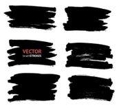 Geplaatste borstellijnen Vector illustratie stock illustratie