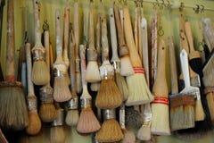 Geplaatste borstels Stock Foto