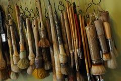 Geplaatste borstels Stock Foto's