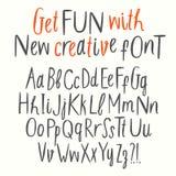 Geplaatste brieven van ABC van de knipselstijl de vector Stock Afbeeldingen