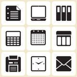 Geplaatste bureaupictogrammen Stock Illustratie