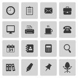 Geplaatste bureaupictogrammen Stock Foto