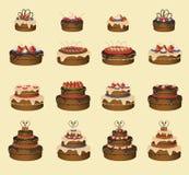 Geplaatste cakes Stock Afbeelding