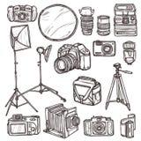 Geplaatste camerapictogrammen Royalty-vrije Stock Foto