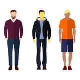 Geplaatste cijfers van het pictogrammensen van de mensen de vlakke stijl Stock Foto
