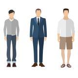 Geplaatste cijfers van het pictogrammensen van de mensen de vlakke stijl Stock Foto's