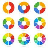 Geplaatste cirkelsegmenten stock illustratie
