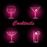 Geplaatste cocktails Stock Fotografie