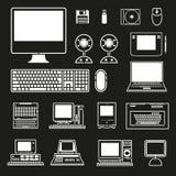 Geplaatste computervectoren Royalty-vrije Stock Afbeeldingen