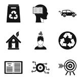 Geplaatste conceptie de pictogrammen, schetsen stijl stock illustratie