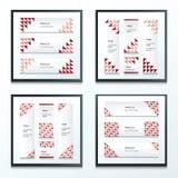 Geplaatste de banner Bruine, Roze, Rode Stijlen van het driehoekspatroon Stock Foto's