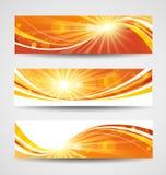 Geplaatste de banners van de herfst Stock Foto's