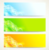Geplaatste de banners van DNA. Stock Foto's