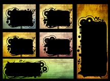 Geplaatste de banners van Grunge Stock Foto's