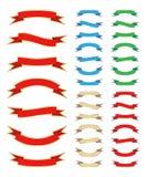 Geplaatste de Banners van het lint royalty-vrije illustratie