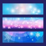 Geplaatste de Banners van Kerstmis Royalty-vrije Stock Afbeeldingen