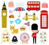 Geplaatste de beeldverhalen van Londen stock illustratie