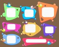 Geplaatste de bellen van de toespraak, kleur vector illustratie