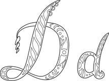 Geplaatste de brieven van het Steampunkpatroon royalty-vrije illustratie