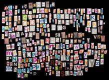 Geplaatste de brieven van het tijdschrift Stock Foto's