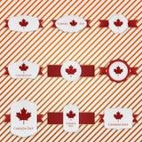 Geplaatste de Dag patriottische Etiketten van Canada royalty-vrije illustratie