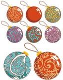 Geplaatste de decoratieballen van Kerstmis stock illustratie