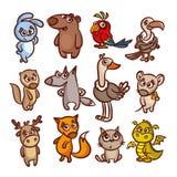 Geplaatste de dieren van het beeldverhaal vector illustratie